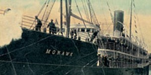 Postcard from beyond: the Mohawk docks at Jacksonville, Florida.