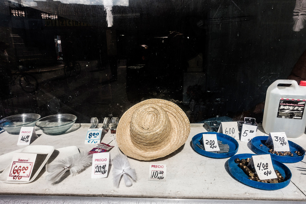 The storefront of a government-managed hardware shop in Sancti Spíritus.
